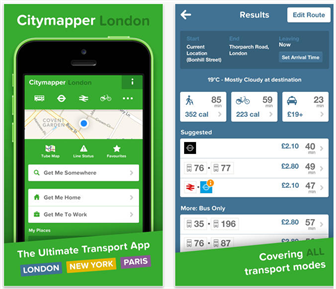 Citymapper. Credit: Theappgooglecom